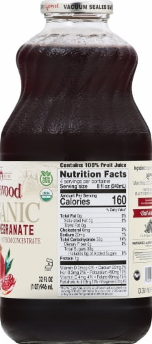 Lakewood Organic Pomegranate Juice Perspective: right
