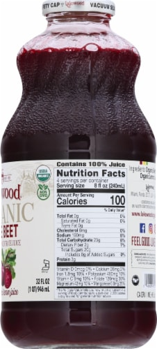 Lakewood Organic Super Beet Juice Perspective: right