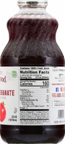 Lakewood Organic Pure Pomegranate Juice Perspective: right