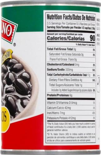 El Mexicano Frijoles Negros Black Beans Perspective: right