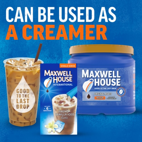 Maxwell House International French Vanilla Iced Latte Mixes Perspective: right