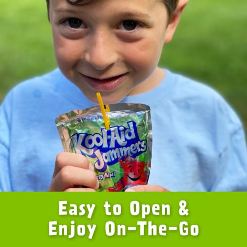 Kool-Aid Jammers Strawberry Kiwi Flavored Drink Pouches Perspective: right