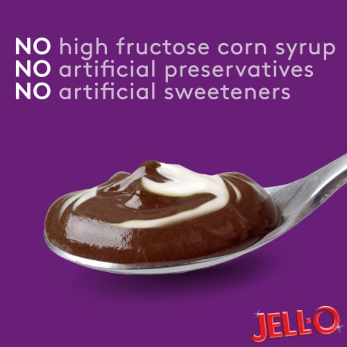 Jell-O Sugar Free Chocolate Vanilla Swirls Pudding Snacks Perspective: right
