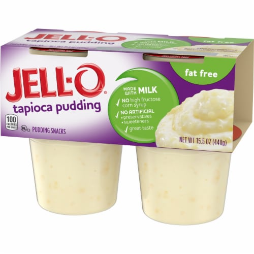 Jell-O Ready-to-Eat Fat Free Tapioca Pudding Snacks Perspective: right