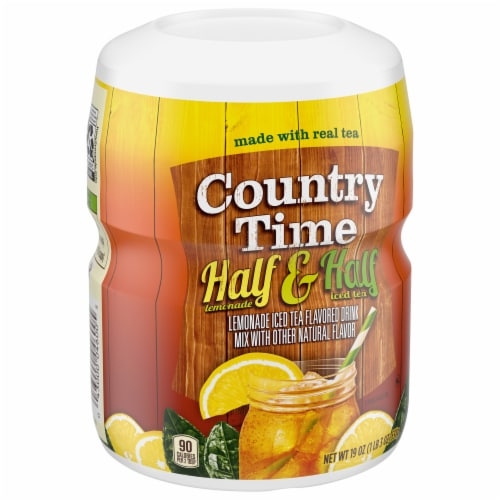 Country Time Half Lemonade & Half Iced Tea Drink Mix Perspective: right