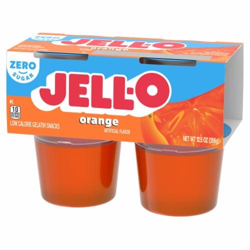 Jell-O Sugar Free Orange Gelatin Snacks Perspective: right