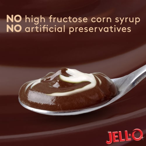 Jell-O Chocolate Vanilla Swirls Reduced Calorie Pudding Snacks Perspective: right