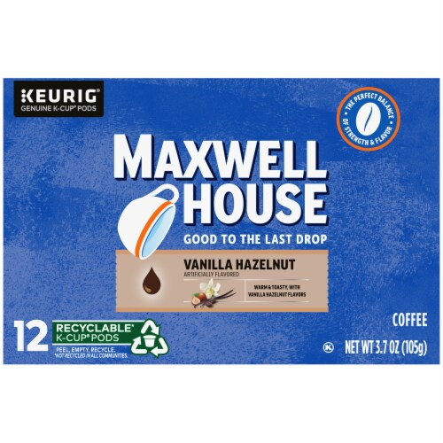 Maxwell House Vanilla Hazelnut Coffee K-Cup Pods Perspective: right