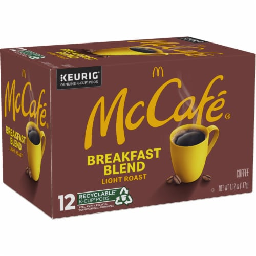McCafe Breakfast Blend Light Roast Coffee K-Cup Pods Perspective: right
