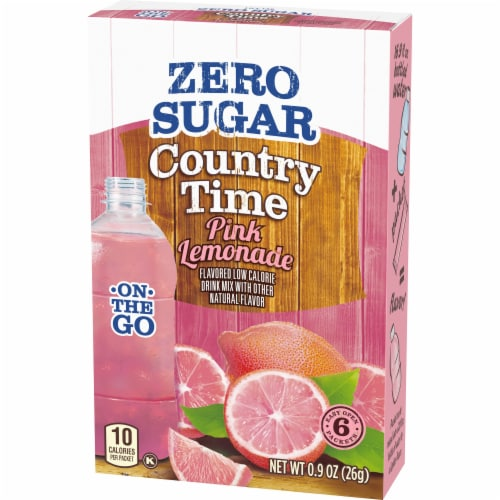 Country Time On-The-Go Zero Sugar Pink Lemonade Flavored Drink Mix Packets Perspective: right