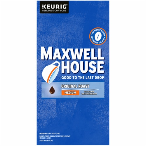 Maxwell House The Original Roast Medium Coffee K-Cup Pods Value Pack Perspective: right