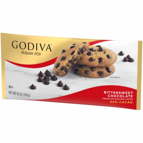 Godiva Bittersweet Chocolate Premium Baking Chips 69% Cacao Perspective: right
