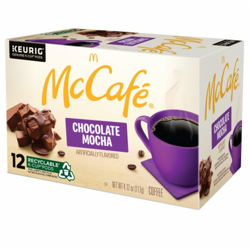 McCafe Chocolate Mocha Light Coffee K-Cup Pods 12 Count Perspective: right