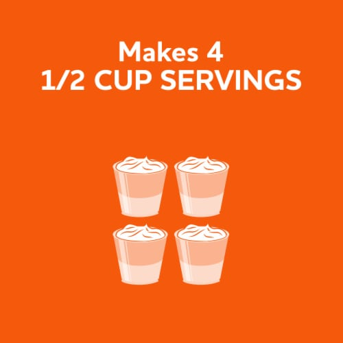 Jell-O Orange Gelatin Dessert Mix Perspective: right