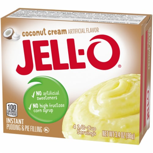 Jell-O Coconut Cream Instant Pudding & Pie Filling Perspective: right