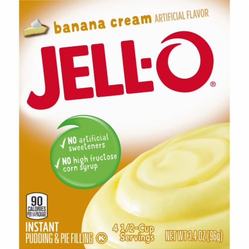 Jell-O Banana Cream Instant Pudding & Pie Filling Perspective: right