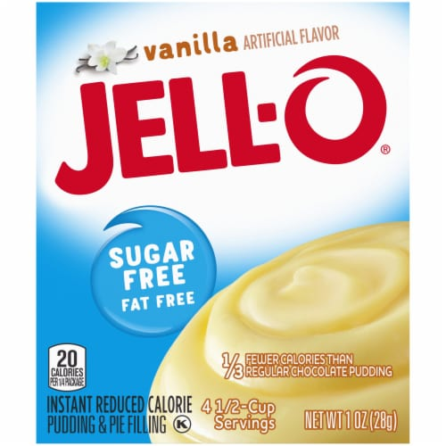 Jell-O Sugar Free Vanilla Instant Pudding and Pie Filling Perspective: right