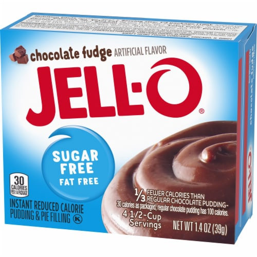 Jell-O Sugar Free Chocolate Fudge Instant Pudding & Pie Filling Perspective: right