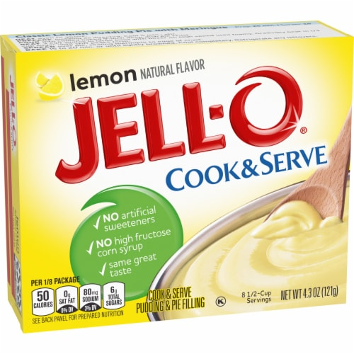 Jell-O Cook & Serve Lemon Pudding & Pie Filling Perspective: right