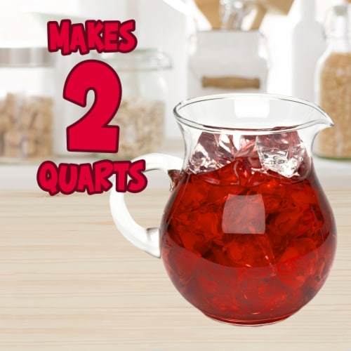 Kool-Aid Cherry Powdered Unsweetened Drink Mix Perspective: right