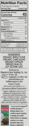 Let's Do Organic® Organic Rolled Style Sugar Cones Perspective: right