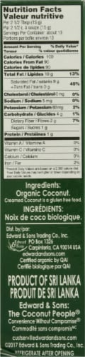 Let's Do Organic® Unsweetened Organic Creamed Coconut Perspective: right