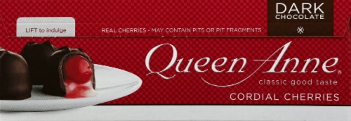 Queen Anne Dark Chocolate Cordial Cherries Perspective: right
