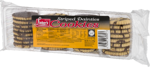 Lieber's Striped Dainties Cookies Perspective: right