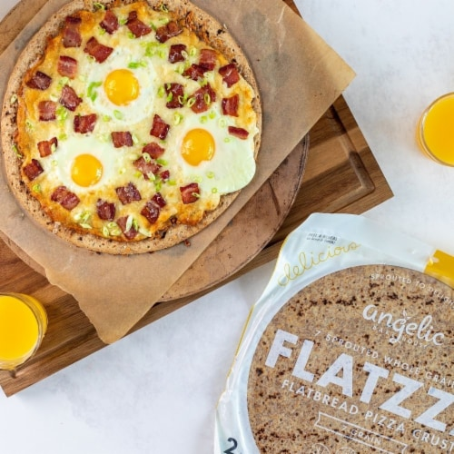 Angelic Bakehouse Flatzza Sprouted Whole Grain Thin Pizza Crusts Perspective: right