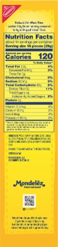 Wheat Thins Reduced Fat Whole Grain Crackers Family Size Perspective: right
