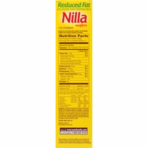 Nilla Reduced Fat Wafers Cookies Perspective: right