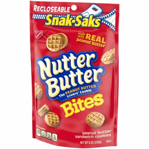 Nutter Butter Bites Peanut Butter Sandwich Cookies Snak-Pak Perspective: right