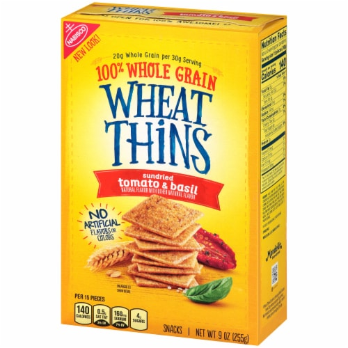 Wheat Thins Sundried Tomato & Basil Flavored Snack Crackers Perspective: right