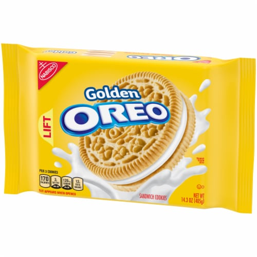 Oreo Golden Sandwich Cookies Perspective: right