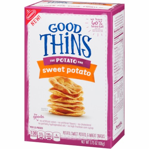 Good Thins The Potato One Sweet Potato Snack Crackers Perspective: right