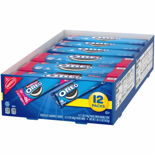 Oreo & Oreo Double Stuf Chocolate Sandwich Cookies Variety Pack Perspective: right