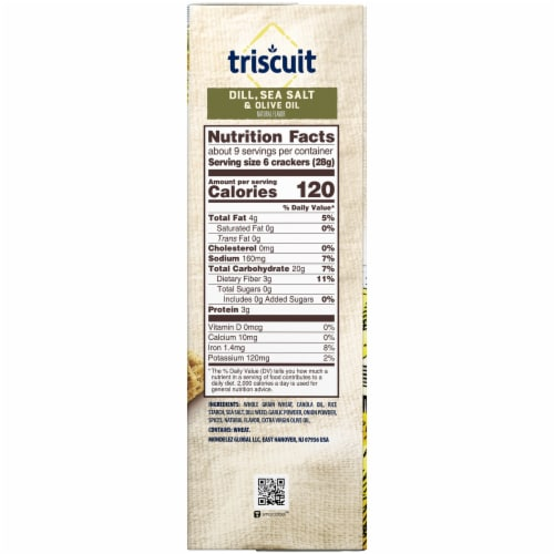 Triscuit Dill Sea Salt & Olive Oil Crackers Perspective: right