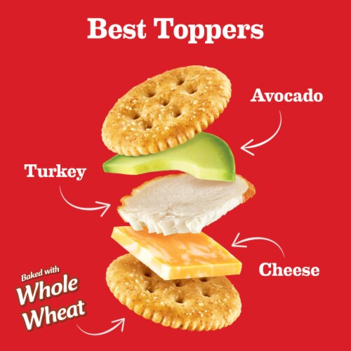 Ritz Whole Wheat Crackers Family Size Perspective: right