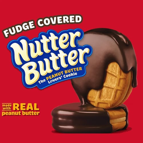 Nutter Butter Fudge Covered Peanut Butter Sandwich Cookies Perspective: right