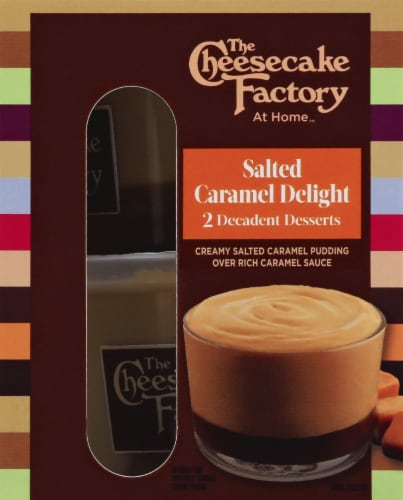 The Cheesecake Factory Salted Caramel Delights Caramel Dessert Pudding Perspective: right