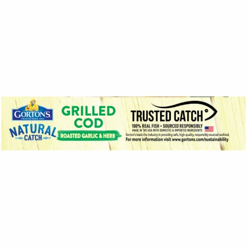 Gorton's Natural Catch Roasted Garlic & Herb Grilled Cod Fillets Perspective: right
