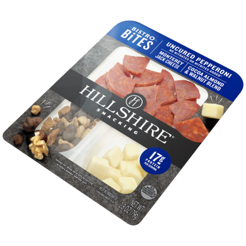 Hillshire Farm Snacking Bistro Bites Pepperoni and Monterey Jack Cheese Perspective: right
