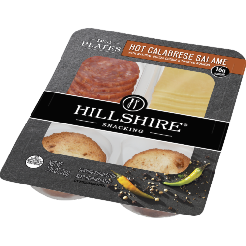 Hillshire Snacking Small Plates Hot Calabrese Salame with Gouda Cheese Perspective: right
