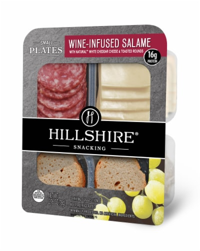 Hillshire Snacking Small Plates Wine-Infused Salame with White Cheddar Cheese Perspective: right