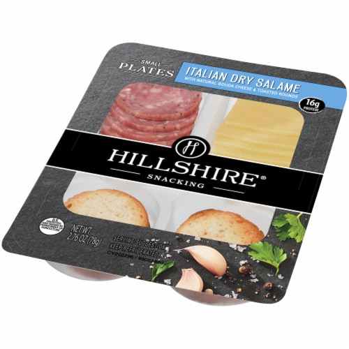 Hillshire Snacking Small Plates Italian Dry Salame and Gouda Cheese Perspective: right