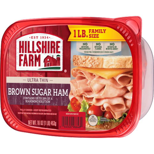 Hillshire Farm® Ultra Thin Sliced Brown Sugar Ham Lunch Meat Perspective: right