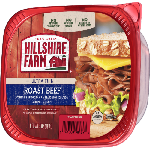 Hillshire Farm Ultra Thin Sliced Lunchmeat Roast Beef Perspective: right