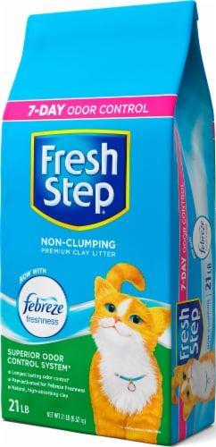 Fresh Step with Febreze Freshness Non-Clumping Clay Cat Litter Perspective: right