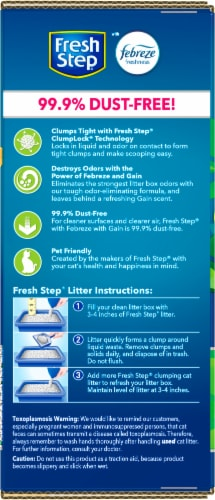 Fresh Step Gain Scent Clumping Cat Litter with Febreze Perspective: right