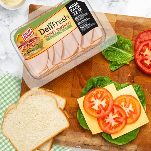 Oscar Mayer Deli Fresh Honey Smoked Turkey Breast Lunch Meat Perspective: right